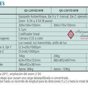 QS L AFB serie-359 sistema de medicion por vision manual especificaciones