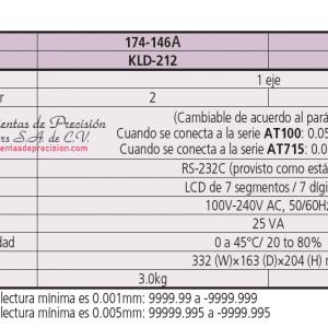 serie-174 tipo proposito especial con salida de senal limite especificaciones