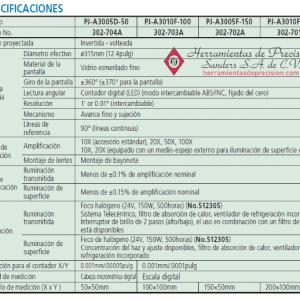 serie 302 pj-a3000 especificaciones