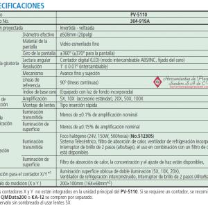 serie-304 pv-5110 comparador optico especificaciones