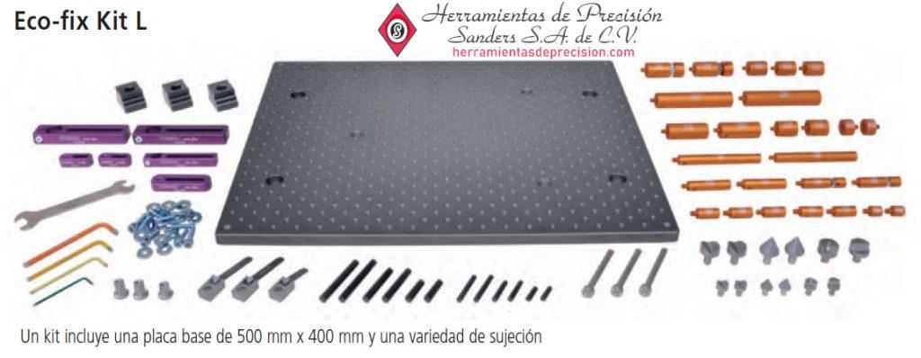 sistemas de sujecion de piezas eco fix kit l