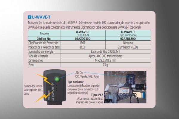 admnistracion de datos-u-wave-t especificaciones