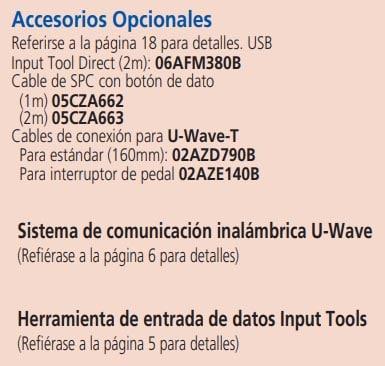 boromatic accesorios opcionales