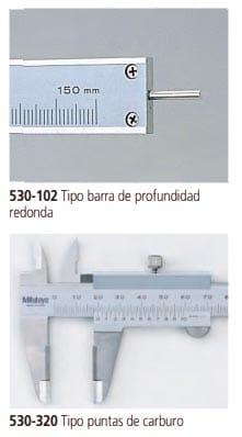 calibrador verrnier estandar 530-102 y 530-320