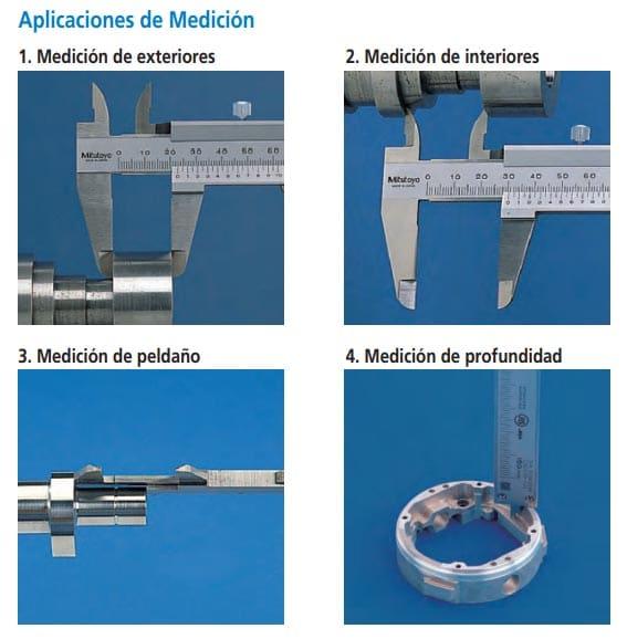 calibrador verrnier estandar aplicaciones de medición