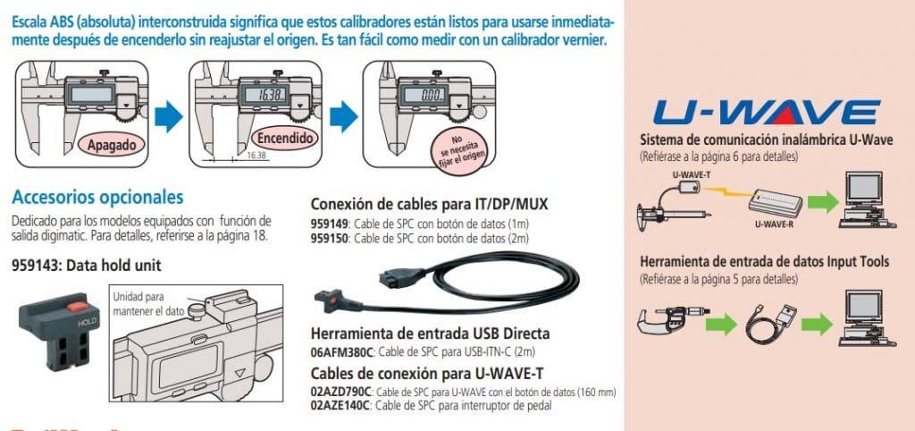 calibradores digimatic serie-500 accesorios opcionales