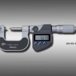 micrómetro para roscas tipo punta de tope husillo intercambiables 326-351-30