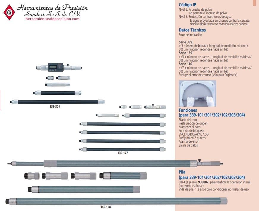micrometro de interiores - otros modelos