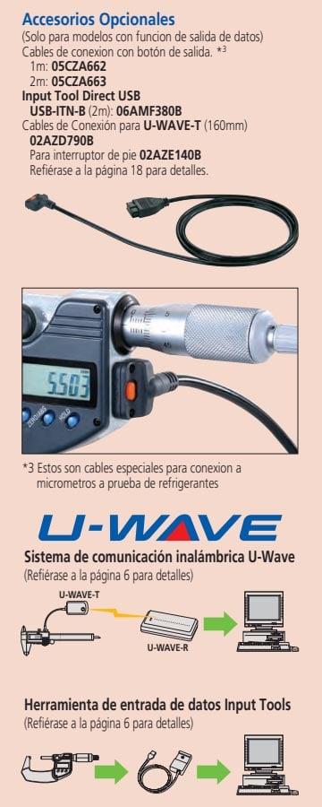 micrometros accesorios opcionales