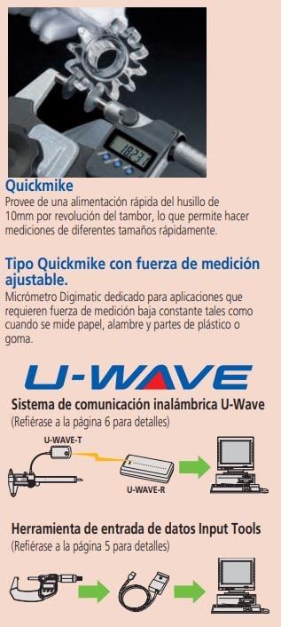 tipo quickmike con fuerza de medición ajustable u-wave