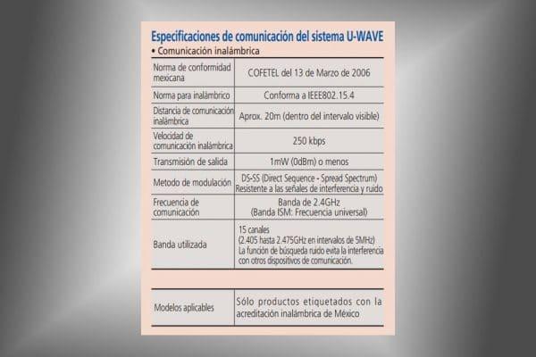 u-wave-r especificaciones