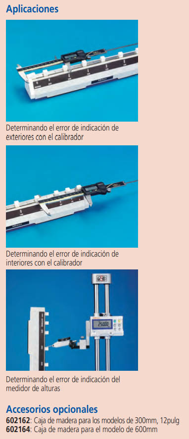 patrón de cerámica para calibradores serie-515 aplicaciones accesorios